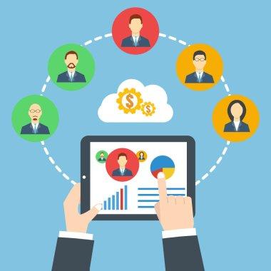 Management concept. Remote business