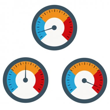 Temperature gauge used in cooking grill with the equipment clip art vector