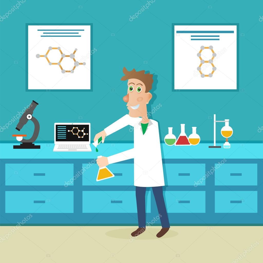 Scientist In Science Education Stock Vector Ansim 74442003