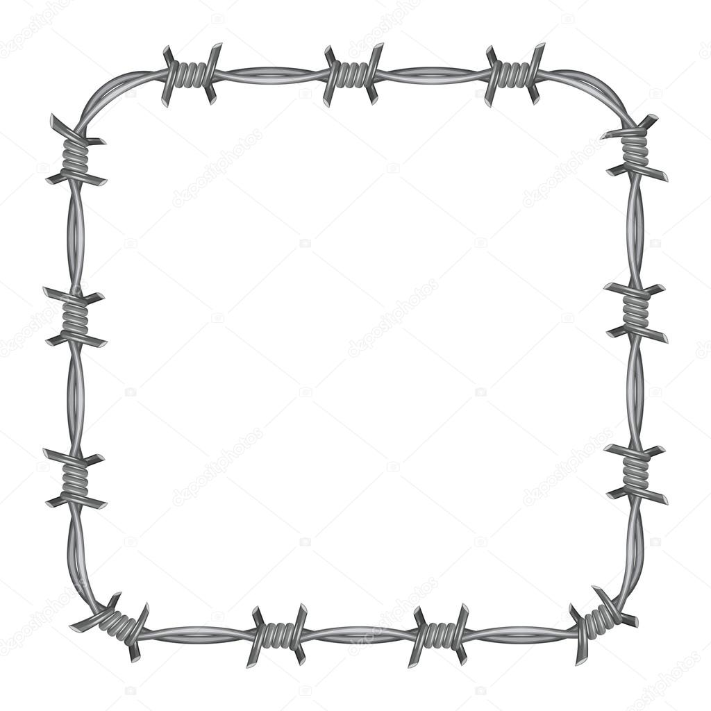 Barbed wire Stock Vectors, Royalty Free Barbed wire Illustrations ...