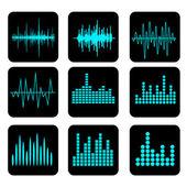 Set di icone di onde sonore