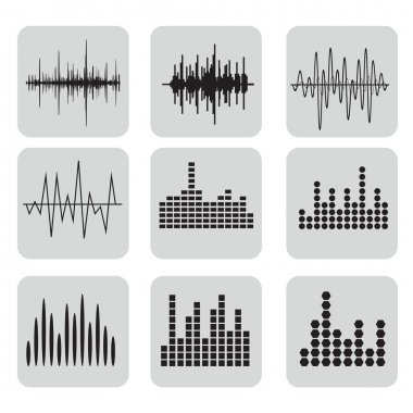 Sound Waves Icons Set
