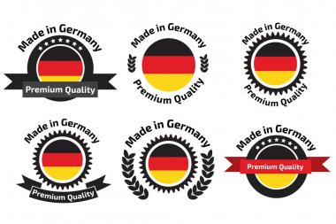 Made in Germany labels and badges