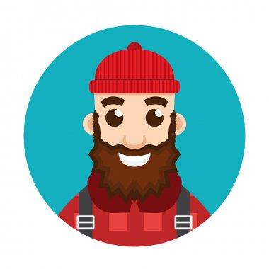 Lumberjack or Woodcutter logo.