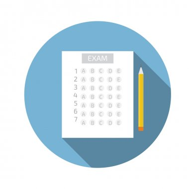 Test answer sheet icon