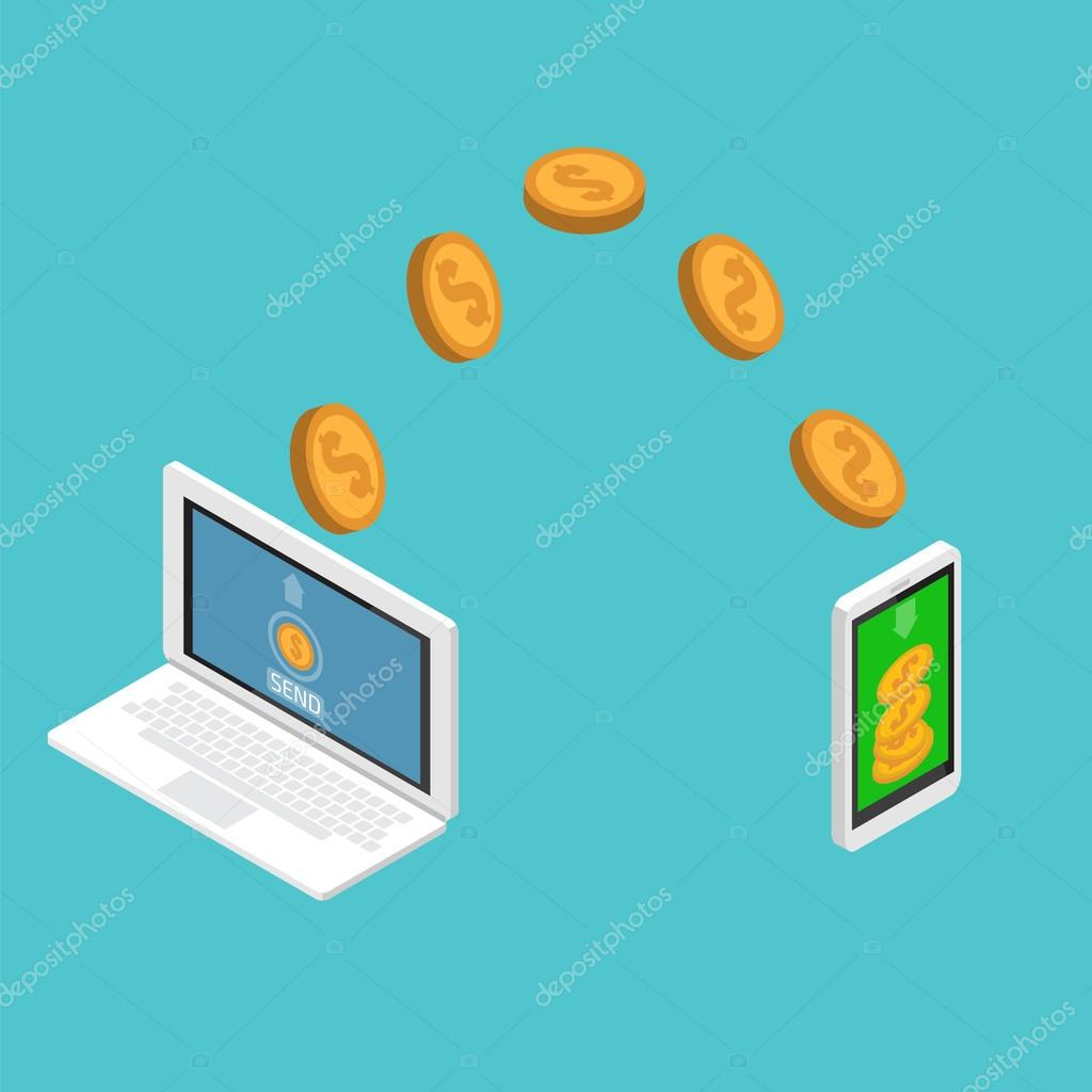 sending and receiving money send money wireless ストック