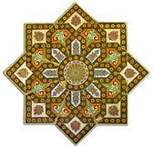 Rich vintage tiled pattern decoration