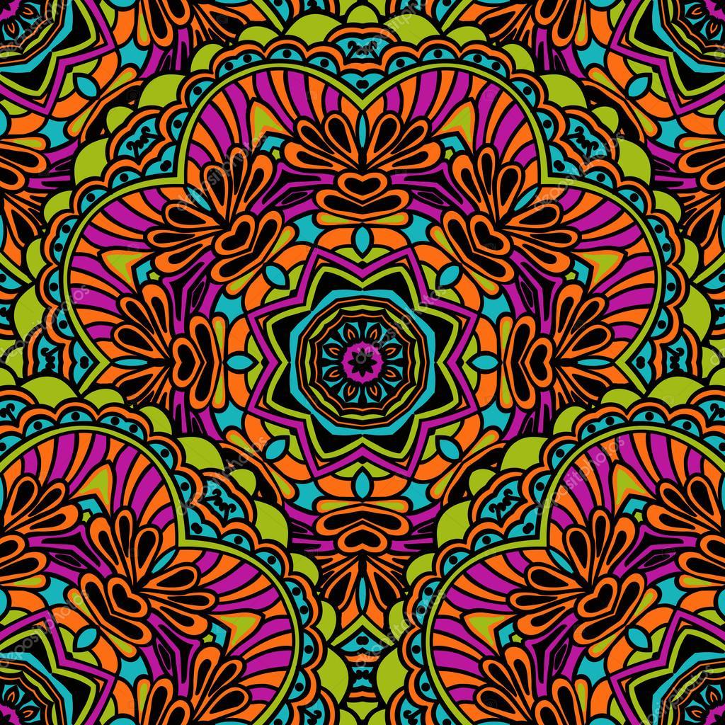 Tribales De Patrones Sin Fisuras Colores Colores Brillantes En