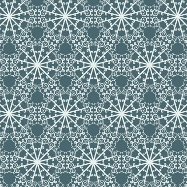 Seamless abstract pattern with repeating geometric ornament in ethnic style.