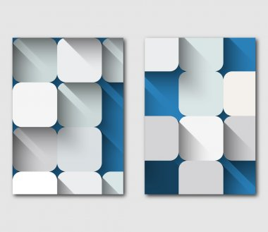 Set of technology business flyer template design