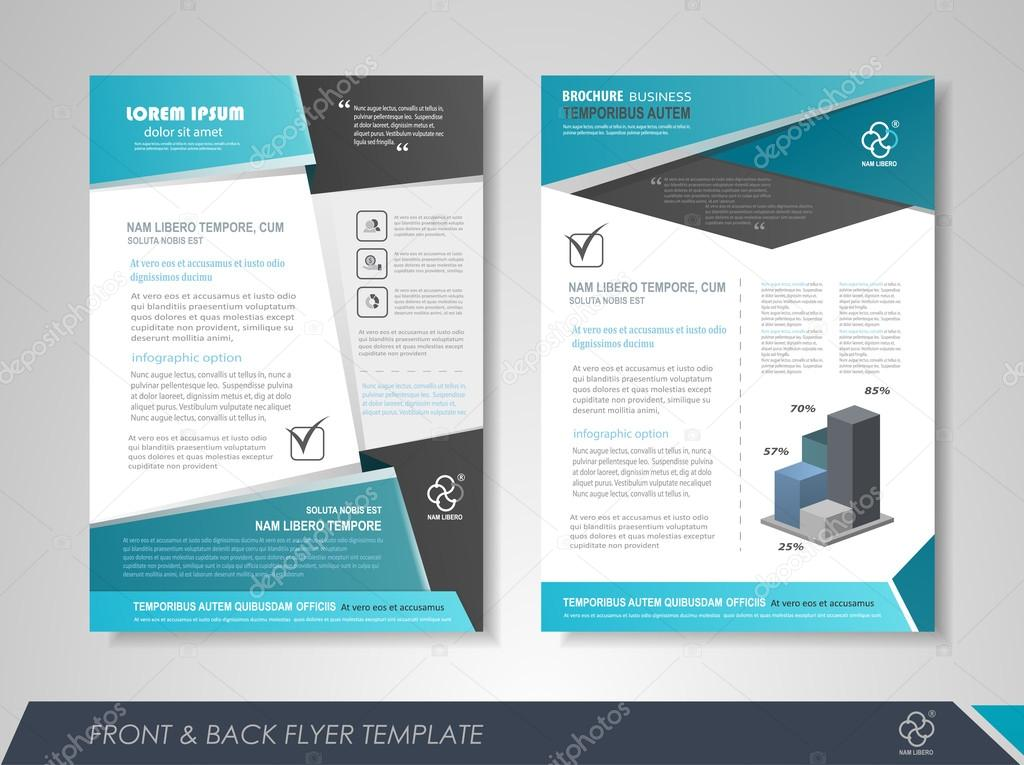 Листовка Дизайн презентации — Векторное изображение ... Листовка Дизайн