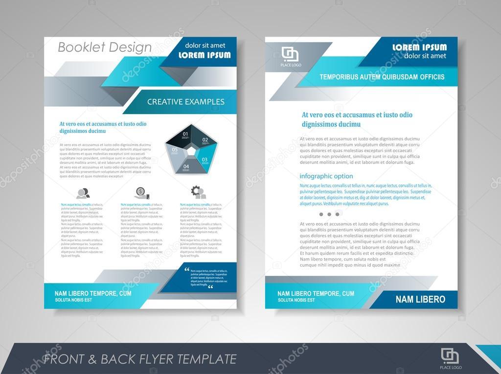 vorder und rckseite broschre vorlage flyer design broschre abdeckung fr business prsentationen magazin deckt plakate broschren banner vektor - Firmenprasentation Muster