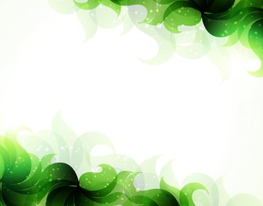 Green petals background