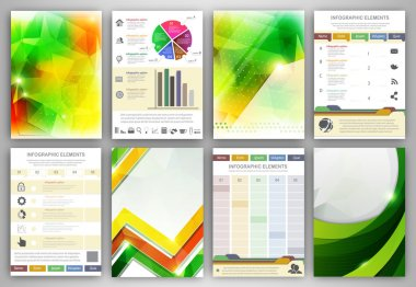 Infographic brochure templates