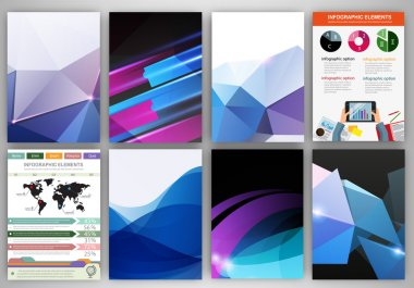 Blue and purple creative backgrounds and abstract concept vector