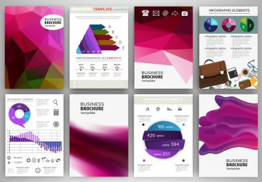 Purple backgrounds abstract concept infographics and icons