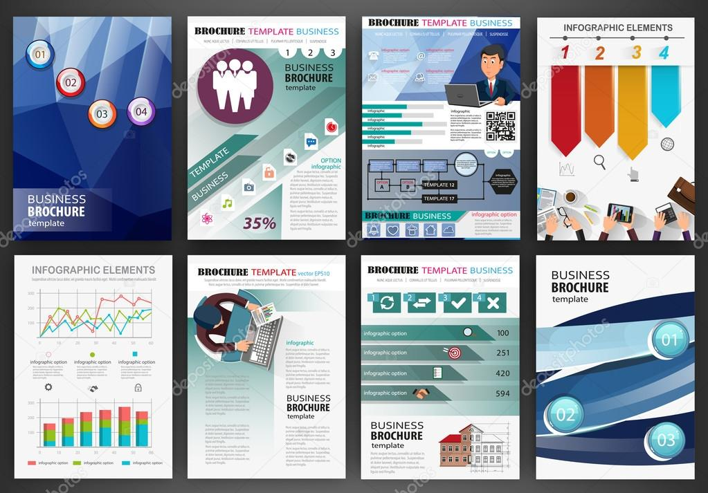 Blue business backgrounds and infographics