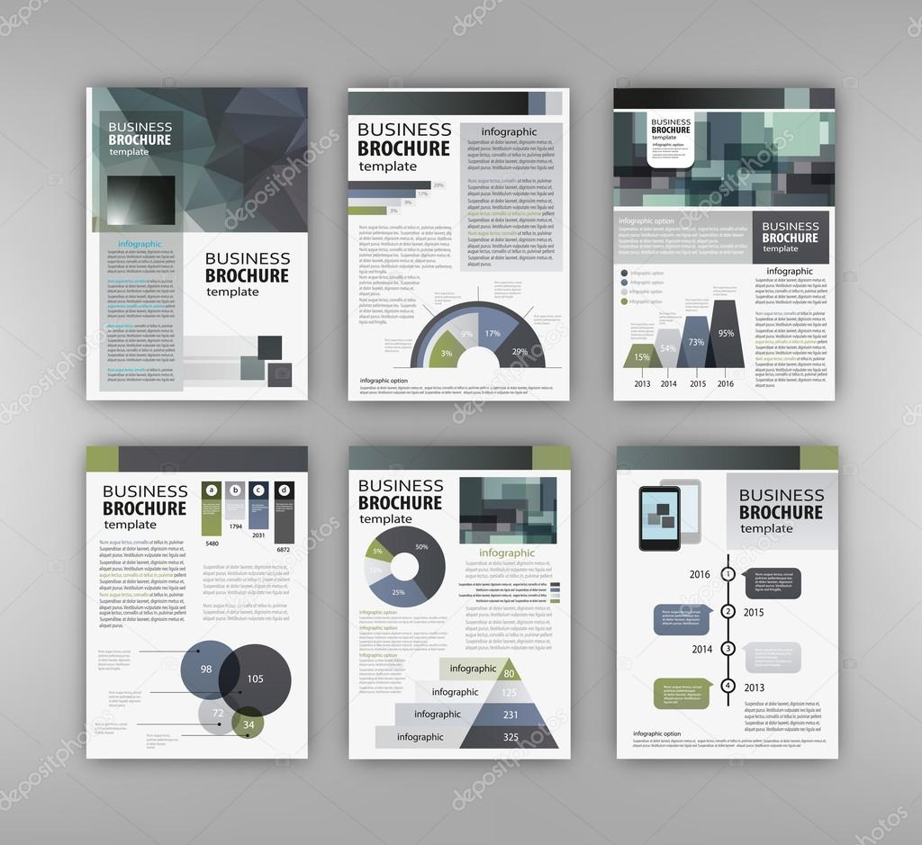 Brochure template with charts and graphs — Stock Vector © stekloduv ...