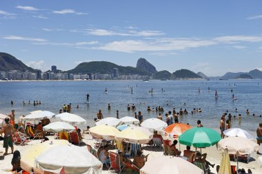 People on the Beach in Rio de Janeiro