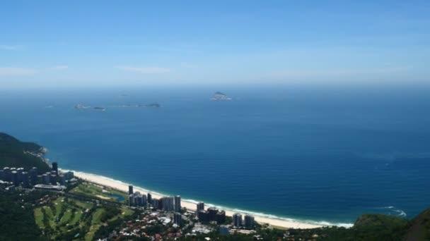 Letecký pohled na pláže Rio de Janeiro Brazílie