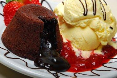 chocolate fondant dessert