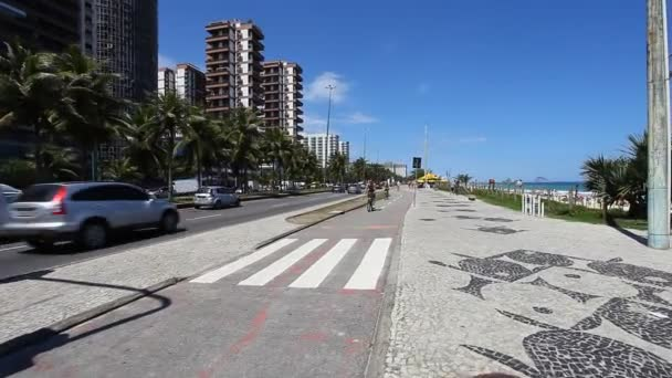The road along the beach
