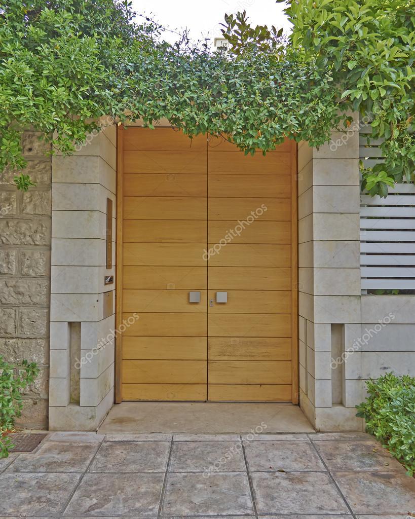 Modern house door athens suburbs greece photo by dimitriosp