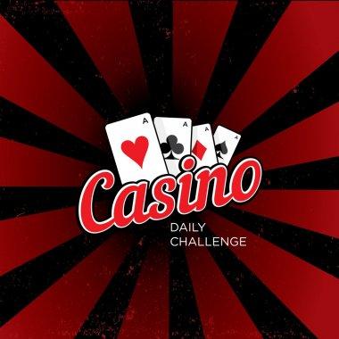 Casino vector logo template