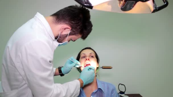 Young woman on dental examination