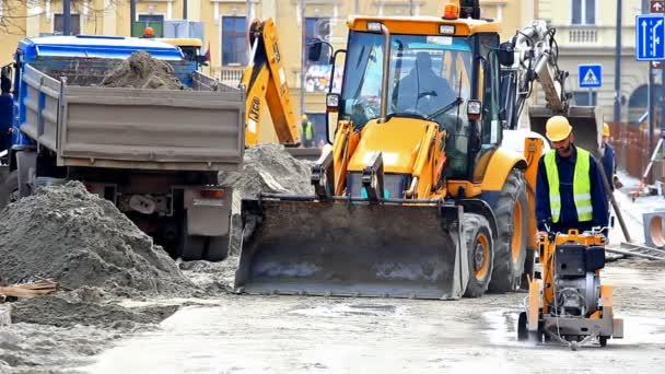 stavební práce ve městě