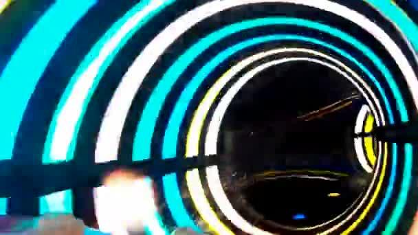 Colorful aqua park tunnel slide