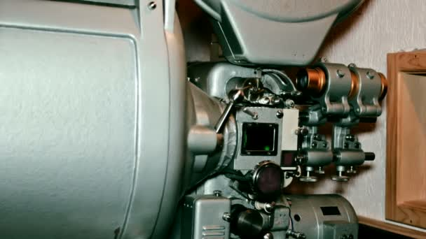 Old Movie Projector in operation