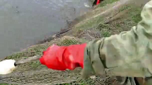 Fishing industry- pulling a fishing net