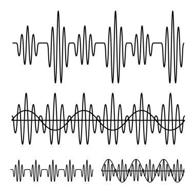 sinusoidal sound wave black line