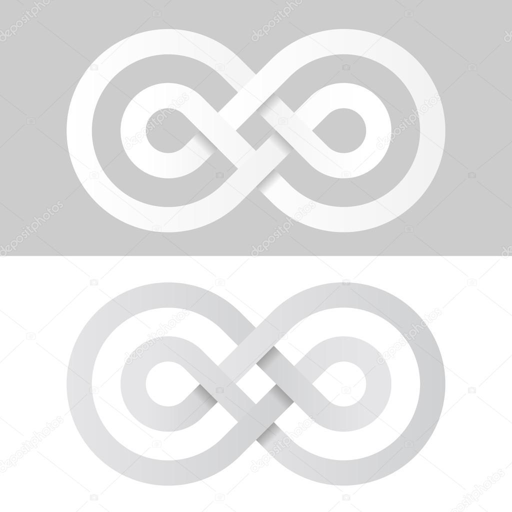 Livre Blanc Symbole De Linfini Léternité Image Vectorielle