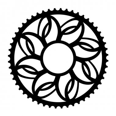 vintage bicycle cogwheel chainwheel symbol