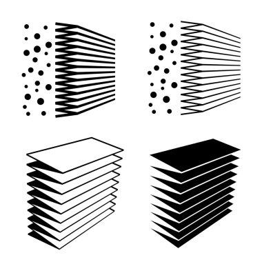 air filter effect black symbol