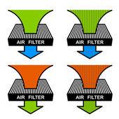 Luftfilter-Symbole