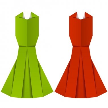 origami paper ladies evening garments
