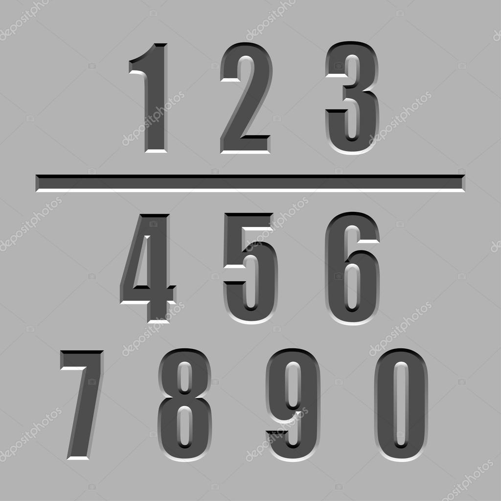 pietra scolpita dei caratteri numeri vettoriali stock happyroman 52452699. Black Bedroom Furniture Sets. Home Design Ideas