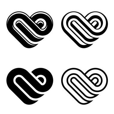 Abstract heart symbols