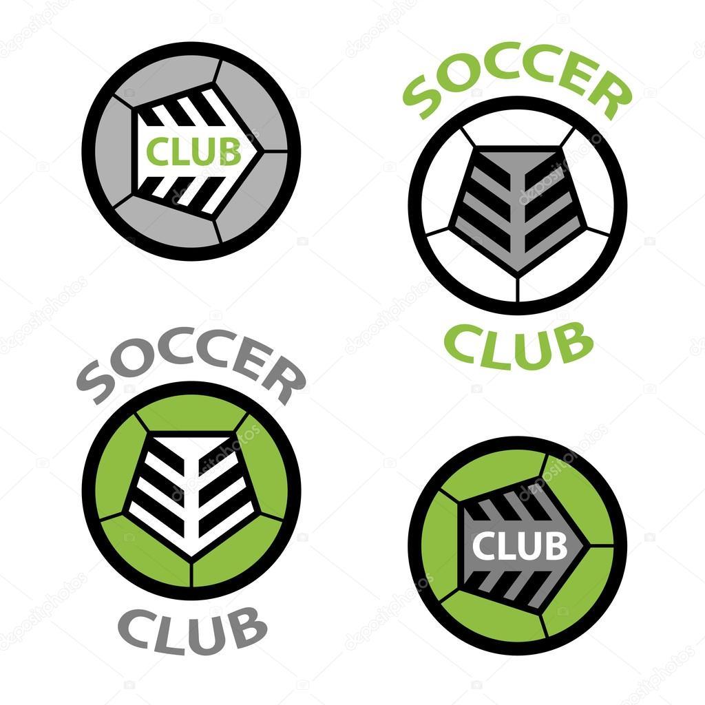 Fussball Verein Genaht Kugel Wappen Stockvektor