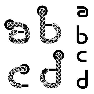 Shoelace alphabet lower case letters