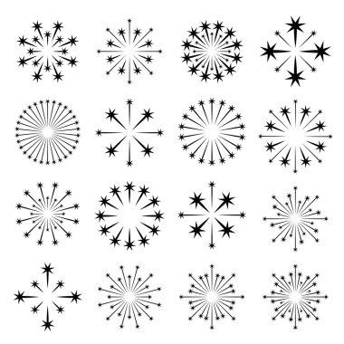 Starbursts black symbols - illustration for the web stock vector