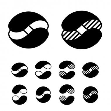 Abstract sphere symbols