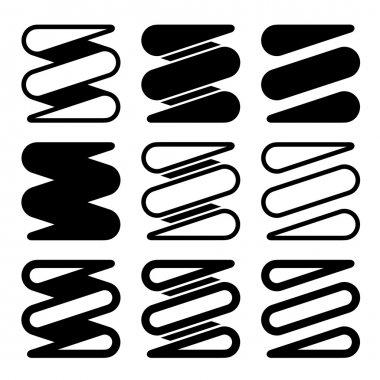 tension spring black icons