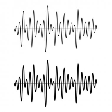 Seamless sinusoidal sound wave lines