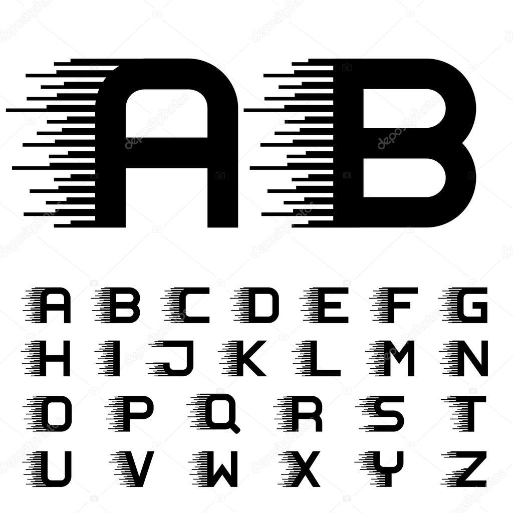 speed writing alphabets