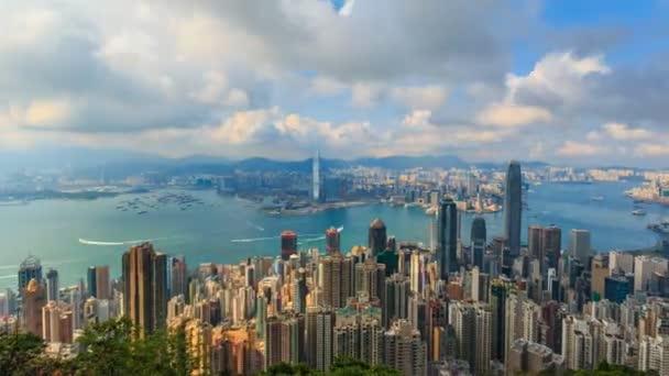 Hong Kong Cityscape Time Lapse (pan shot)