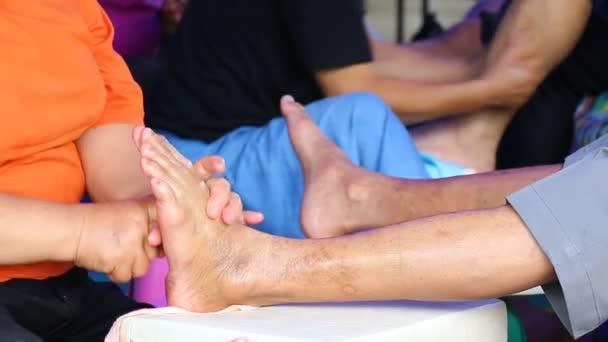 einfach Massage Fuß von thailand
